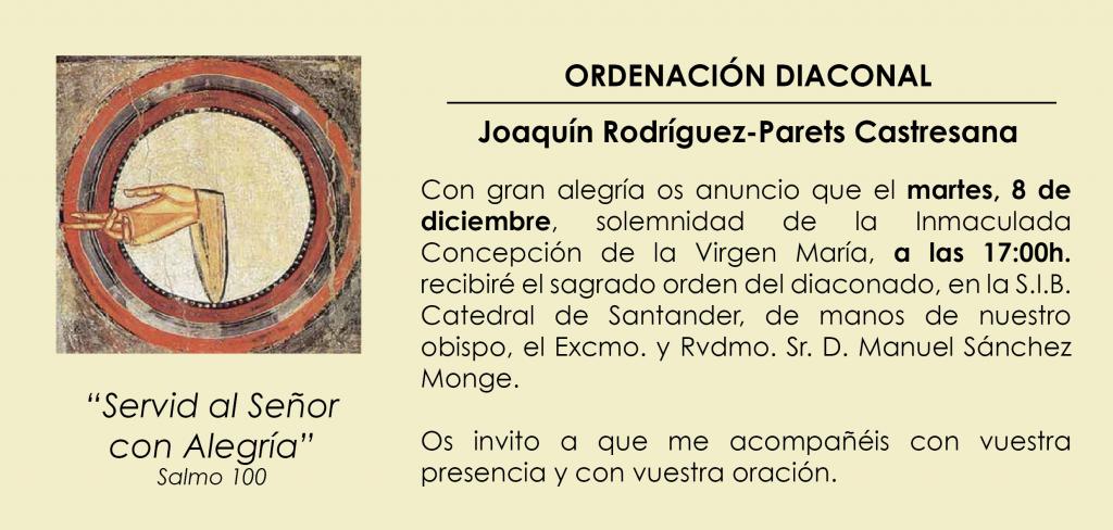 invitación ordenación