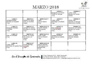 marzo menú