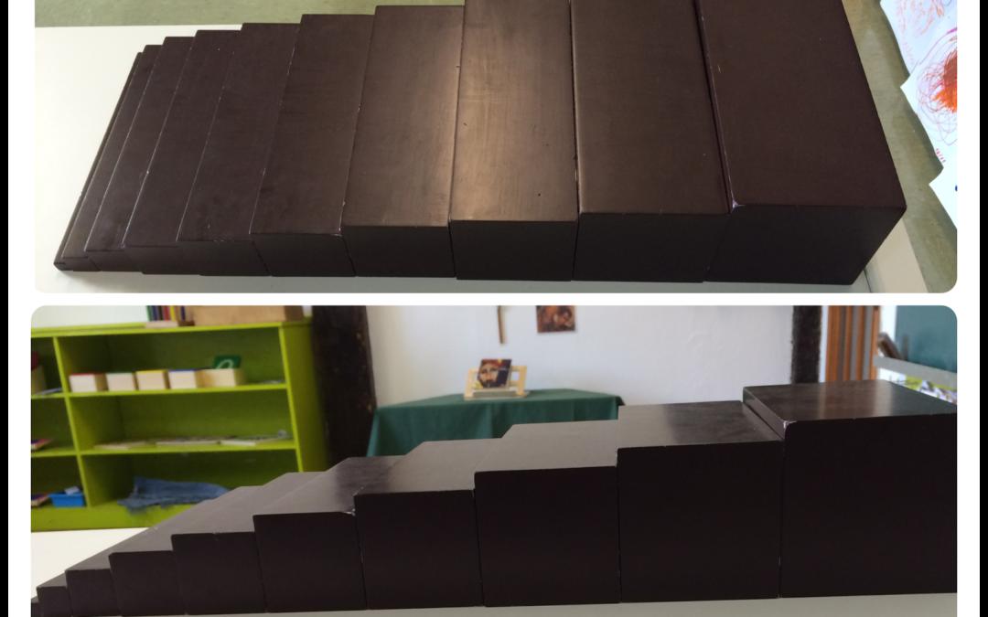 La escalera marrón