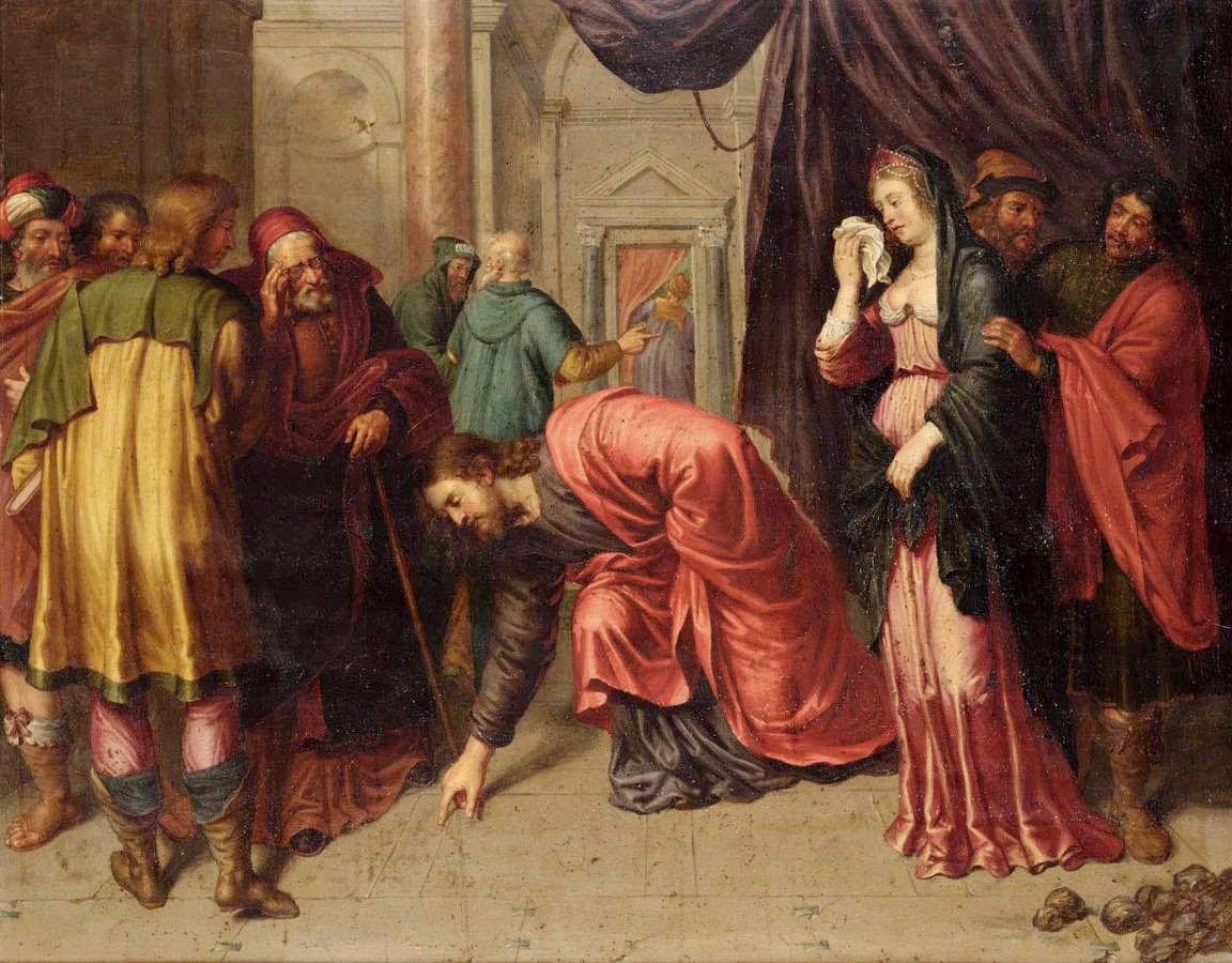 Cristo_y_la_mujer_adultera_ Pieter van Lint_-BARROCO