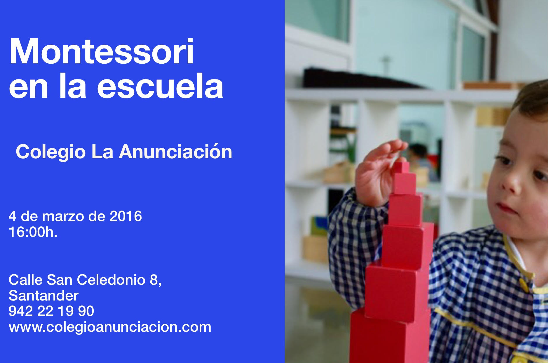 Colegio La Anunciación –  Charla «Montessori en la Escuela»